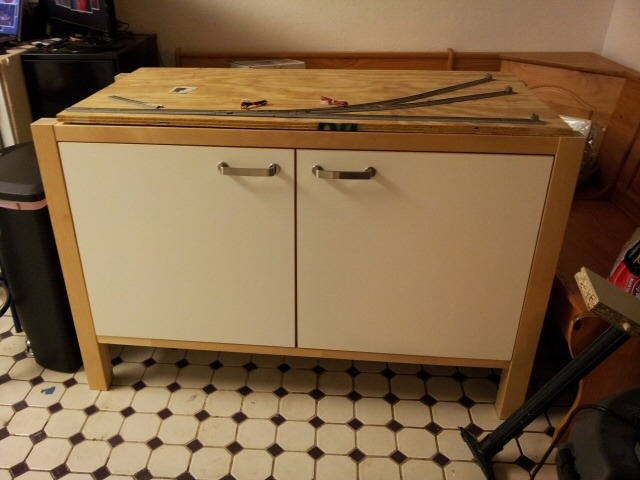 Picture of my Varde cabinet set up in my kitchen
